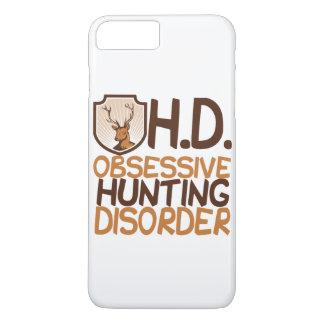 Coque iPhone 8 Plus/7 Plus Cerfs communs obsédants de désordre de chasse