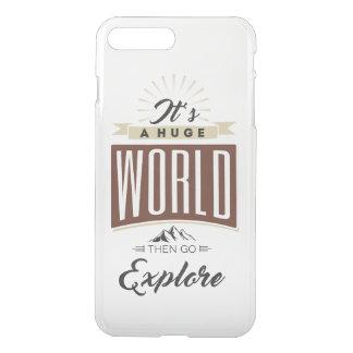 Coque iPhone 8 Plus/7 Plus C'est un monde énorme puis disparaît les explorent