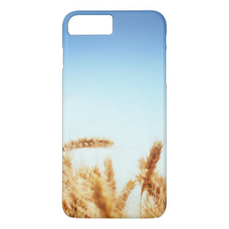 Coque iPhone 8 Plus/7 Plus Champ de blé contre le ciel bleu