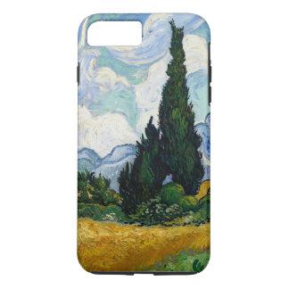 Coque iPhone 8 Plus/7 Plus Champ de blé de Vincent van Gogh avec des cyprès
