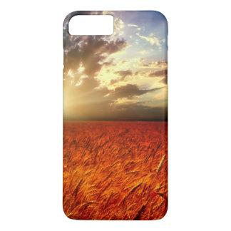 Coque iPhone 8 Plus/7 Plus Champ de blé et de coucher du soleil