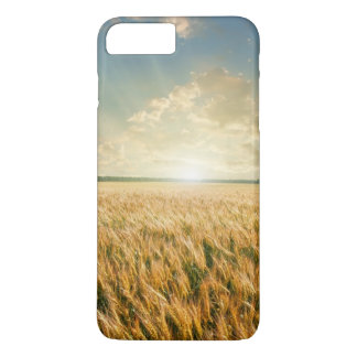 Coque iPhone 8 Plus/7 Plus Champ de blé sur le coucher du soleil