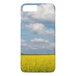Coque iPhone 8 Plus/7 Plus Champ et nuages de canola
