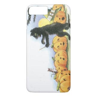 Coque iPhone 8 Plus/7 Plus Chat noir menant le choeur de Halloween de