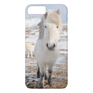 Coque iPhone 8 Plus/7 Plus Cheval islandais blanc, Islande