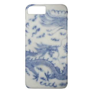 Coque iPhone 8 Plus/7 Plus Chinoiserie chinois vintage de bleu du Monaco de