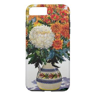 Coque iPhone 8 Plus/7 Plus Chrysanthèmes dans une cruche modelée 2005