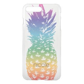 Coque iPhone 8 Plus/7 Plus Clairs transparents d'ananas fait sur commande