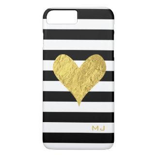 Coque iPhone 8 Plus/7 Plus Coeur de feuille d'or