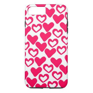 Coque iPhone 8 Plus/7 Plus Coeurs simples 2014
