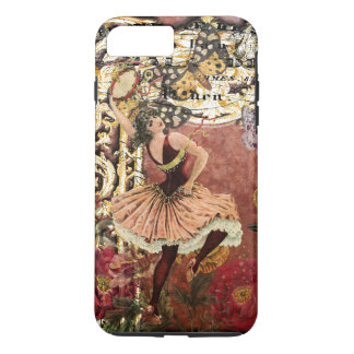 Coque iPhone 8 Plus/7 Plus Collage gitan rose de Français de danseur de cru