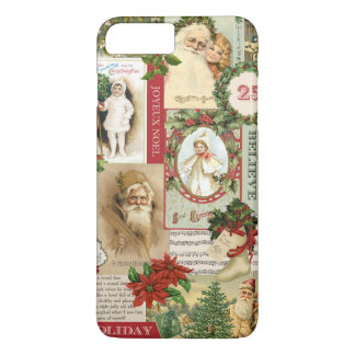 COQUE iPhone 8 PLUS/7 PLUS COLLAGE VINTAGE DE NOËL