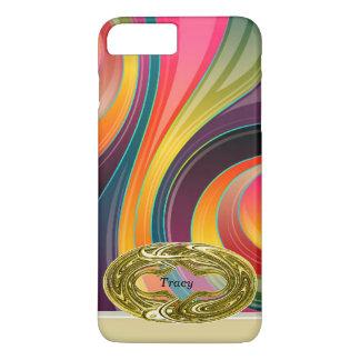 Coque iPhone 8 Plus/7 Plus Conception colorée d'arc-en-ciel en spirale