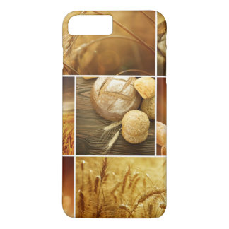 Coque iPhone 8 Plus/7 Plus Concepts de Wheat.Harvest. Collage de céréale