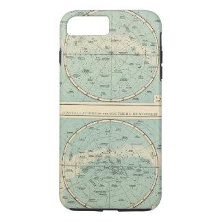 Coque iPhone 8 Plus/7 Plus Constellations, système solaire, lune