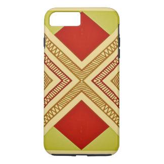 Coque iPhone 8 Plus/7 Plus Copie géométrique rouge et jaune, iPod/coque