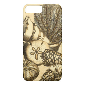 Coque iPhone 8 Plus/7 Plus Coquilles neutres et collection de corail