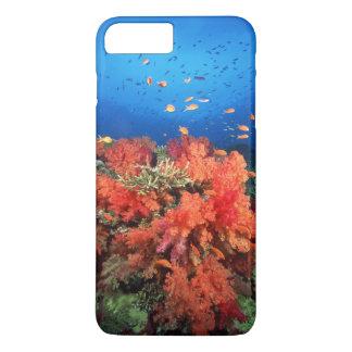 Coque iPhone 8 Plus/7 Plus Corail et poissons