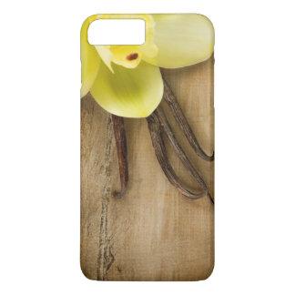 Coque iPhone 8 Plus/7 Plus Cosses et fleur de vanille au-dessus d'arrière -
