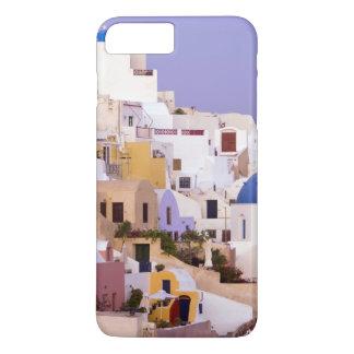 Coque iPhone 8 Plus/7 Plus Coucher du soleil à l'huile, Santorini 2