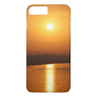 Coque iPhone 8 Plus/7 Plus Coucher du soleil d'or sur le cas de téléphone