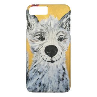Coque iPhone 8 Plus/7 Plus Couverture heureuse du chien IPhone4