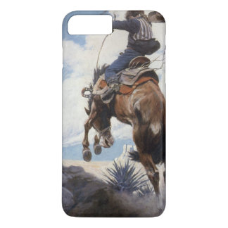 Coque iPhone 8 Plus/7 Plus Cowboys occidentaux vintages, s'opposant par OR