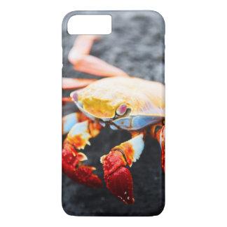 Coque iPhone 8 Plus/7 Plus Crabe de lightfoot de sortie sur une roche noire