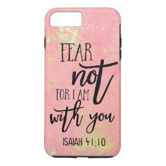 Coque iPhone 8 Plus/7 Plus Crainte pas pour moi suis avec vous des citations