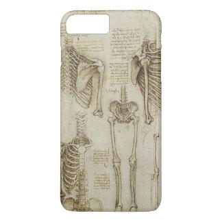 Coque iPhone 8 Plus/7 Plus Croquis squelettiques humains de l'anatomie de da