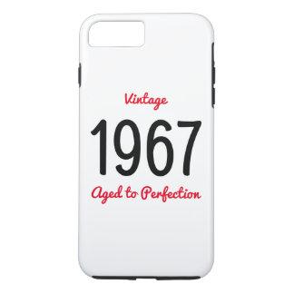 Coque iPhone 8 Plus/7 Plus Cru 1967 âgé au cadeau d'anniversaire de