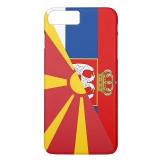 Coque iPhone 8 Plus/7 Plus de symbole de pays de drapeau de la Serbie