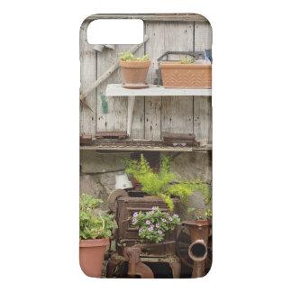 Coque iPhone 8 Plus/7 Plus Décorations sur la barrière en bois, île de