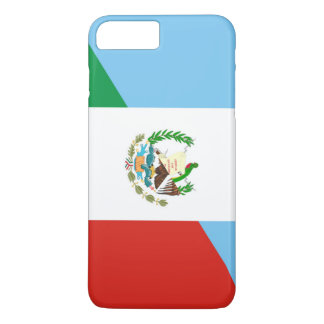 Coque iPhone 8 Plus/7 Plus demi de symbole de drapeau du Guatemala Mexique
