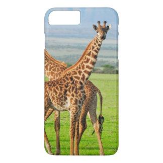 Coque iPhone 8 Plus/7 Plus Deux girafes