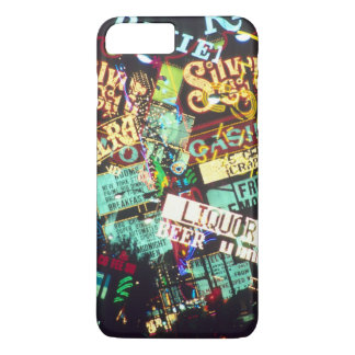 Coque iPhone 8 Plus/7 Plus Double exposition, signes de casino, Las Vegas,