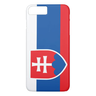 Coque iPhone 8 Plus/7 Plus Drapeau de la Slovaquie