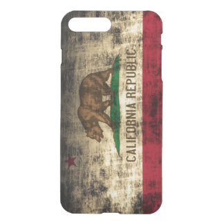 Coque iPhone 8 Plus/7 Plus Drapeau grunge vintage d'état de la République de