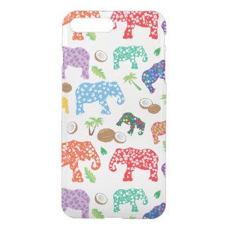 Coque iPhone 8 Plus/7 Plus Éléphants tropicaux