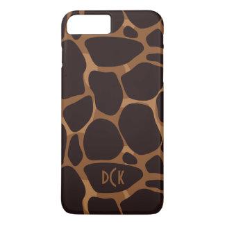 Coque iPhone 8 Plus/7 Plus Empreinte de léopard de cuivre de Brown