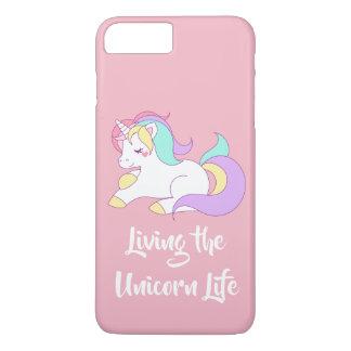 Coque iPhone 8 Plus/7 Plus En vivant la vie Apple de licorne téléphonez le