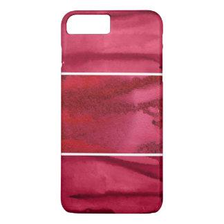 Coque iPhone 8 Plus/7 Plus Ensemble d'abrégé sur rouge aquarelle peint à la