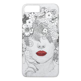 Coque iPhone 8 Plus/7 Plus Femme avec les lèvres rouges