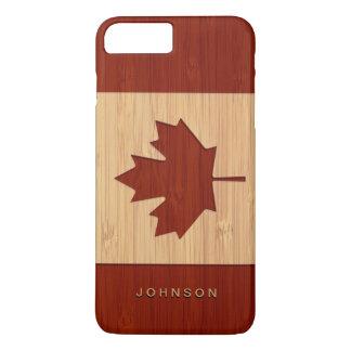 Coque iPhone 8 Plus/7 Plus Feuille d'érable gravée par sembler en bambou de