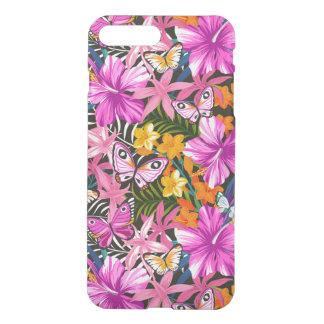 Coque iPhone 8 Plus/7 Plus Feuille et fleurs tropicaux