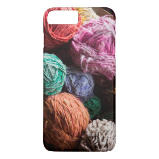 Coque iPhone 8 Plus/7 Plus Fil de laine de Chiloe teint avec les colorants