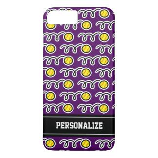 Coque iPhone 8 Plus/7 Plus Fille jaune personnalisée de motif de sports du