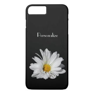 Coque iPhone 8 Plus/7 Plus Fleur élégante de marguerite blanche avec le nom