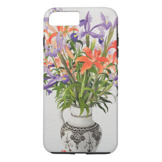 Coque iPhone 8 Plus/7 Plus Fleurs dans une cruche noire et blanche