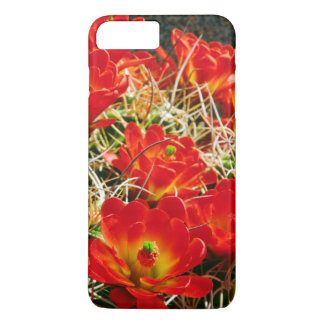 Coque iPhone 8 Plus/7 Plus Fleurs sauvages de cactus de tasse de claret